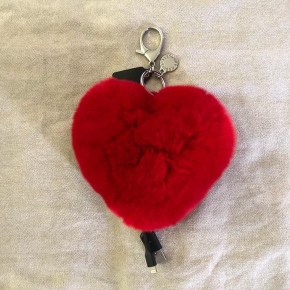 Rebecca Minkoff Heart Shaped Power Puff Keychain 3tMKkPl